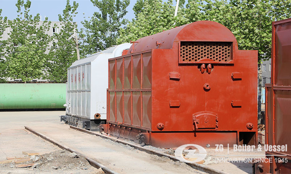 Rice husk biomass fired boiler